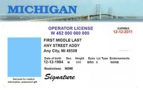 And Michigan Hope College Orange License Life Blue In Driver's –