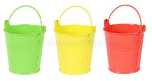 Download Green Yellow And Red Gardening Metal Bucket Stock Image - Image of  yellow, white