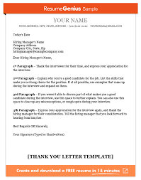 Thank You Letter Template Sample And Writing Guide Resume Genius