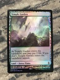 temple garden foil expedition battle for zendikar z mtg magic the gathering rare or trade