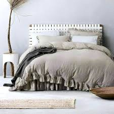 linen duvet cover set w ruffled flouncing avail in colors king uk flax matching stone washed linen duvet