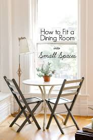Small Picture How To Fit a Dining Room Into Small Spaces Apartment Therapy