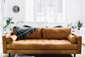 modern leather sofa. Modern Leather Sofa Ideas For Living Room : Brown Livingroom