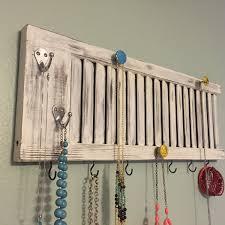 Wall Jewelry Organizer Shutter Jewelry Rack Shutter Decor Jewelry Holder Jewelry