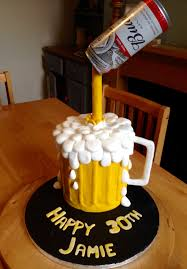 40722399 Pouring Beer Cake Cake By Tracys Custom Cakery Llc