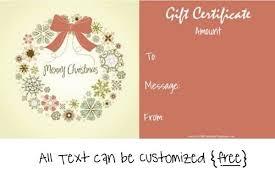 Printable Christmas Gift Certificates Templates Free Condo