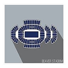 Beaver Stadium Seating Chart Amazon Com Artsycanvas Penn State Nittany Lions Beaver