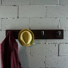 san antonio industrial wall mounted entryway hat coat rack 4 hooks metal with reclaimed wood finish