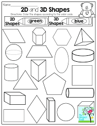 3d Shapes Worksheet For Kindergarten Free Printable Shapes ...