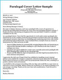 Paralegal Cover Letter Samples Charming Paralegal Cover Letter Which Can Be Used As Cover