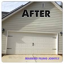 garage door kitMarried Filing Jointly MFJ Garage Door Makeover
