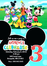 Free Mickey Mouse Birthday Party Invitations Cryptoforpak