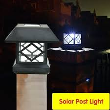 solar led post light lot outdoor solar led post lamp waterproof solar pillar lamp for garden
