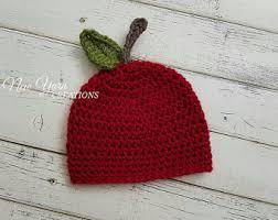 apple hat. apple hat, crochet newborn photo prop, red hat