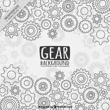 Gear Pattern Adorable Gear Background In Flat Style Vector Free Download
