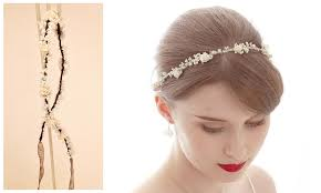 ivory flower hair vine wrap wedding accessories