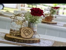 Mason Jar Burlap Wedding Centerpieces