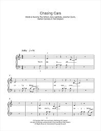 Licensed to virtual sheet music® by hal leonard® publishing company. Snow Patrol Chasing Cars Sheet Music Pdf Notes Chords Alternative Score Easy Piano Download Printable Sku 178084