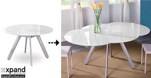 the erfly expandable round glass dining table expand furniture folding tables smarter wall beds space savers