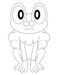 Small Picture pokemon coloring pages froakie froakie drawings on paigeeworld