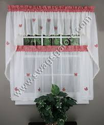 erfly gingham curtains red