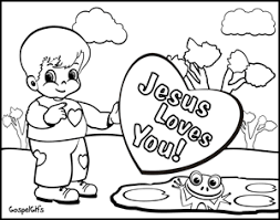 Jesus Loves Me Coloring Page Coloring Pages