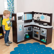 Play Kitchen Kidkraft Grand Gourmet Uptown Espresso Corner Wood Play Kitchen