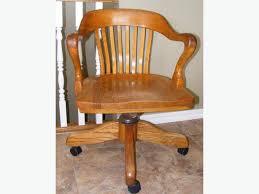 vintage solid oak h krug swivel office chair antique oak office chair