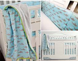 sharks custom crib bedding