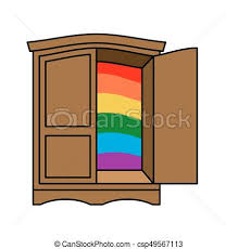 wardrobe clipart. Perfect Wardrobe Coming Out Wardrobe LGBT Symbol Open Closet Door Get Of Wardrobe Gay For Clipart S