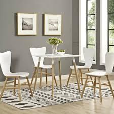 Mid Century Modern Contemporary Square Wood Leg 28 Kitchen Dining