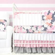 Pink and Grey Crib Bedding