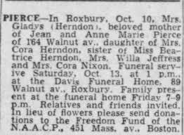 Obituary for Gladys PIERCE - Newspapers.com