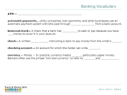lesson six banking services presentation slides beware the high  23 banking vocabulary