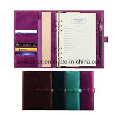 china leather bound ring binder notebook refillable diary planner china leather planner composition notebooks