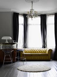 room grey and yellow living