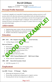 Examples Of Personal Statements For Cv Cv Examples Example Of A Good Cv Biggest Mistakes To