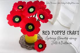 poppy template spring flowers red poppy felt craft artsy craftsy mom