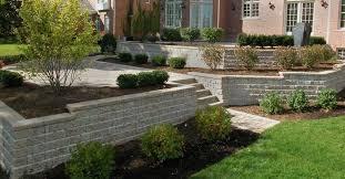 independence ohio retaining walls used to create multi level patio