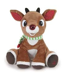 Snuggle Buddies Magical Light Up Star Light Up Rudolph Plush With Music And Lights Hearthsong