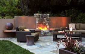 Garden Fireplace Design Image