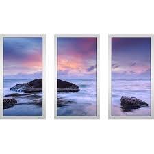 "PicturePerfectInternational ""<b>Purple Sunset</b>"" 3 Piece Framed Painting ..."