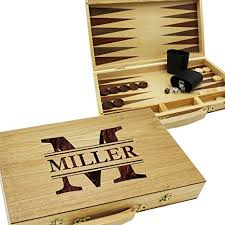 custom personalized backgammon gift set wood game board end for mother father gift monogrammed