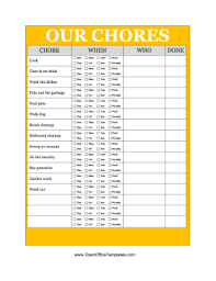 Free Downloadable Chore Chart Templates Family Chore Chart Printables Free Printable Family Chore