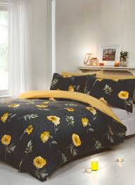 darcy yellow duvet cover set