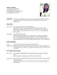 Simple Examples Of Resumes Sarahepps Com