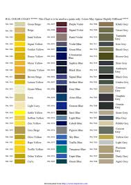 Ral Chart Download Download Ral Colour Chart 2 For Free Chartstemplate