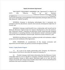 Investment Agreement Templates Investment Agreement Format Ohye Mcpgroup Co