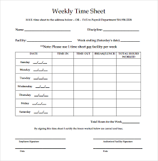 free weekly timesheet 21 weekly timesheet templates free sample example format