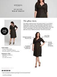 Kiyonna Dress Size Chart Kiyonna Womens Plus Size Evaline Wrap Dress 4x Gold Dust At